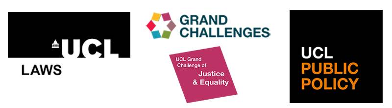 Logos for UCL Laws, UCL Public Policy and UCL Grand Challenges