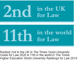 Image has text saying: UCL Laws is 2nd in the UK for Law and 11th in the world for Law