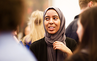 Student at Laidlaw Scholarship event