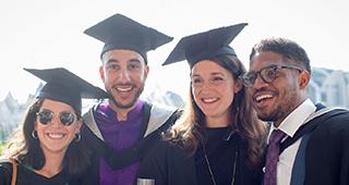 Photo of graduates at 2019 reception