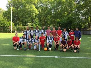 UCL Faculty of Laws staff and student teams in the 1st annual football match