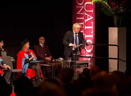 Boris Johnson UCL Graduation