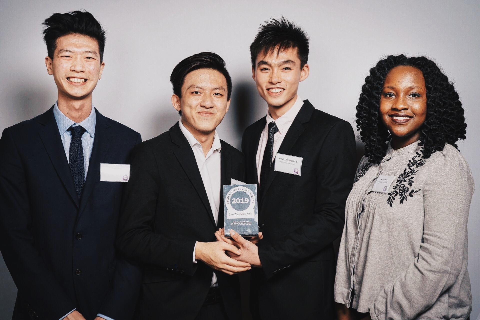 UCL Law Society win at Law Society Awards