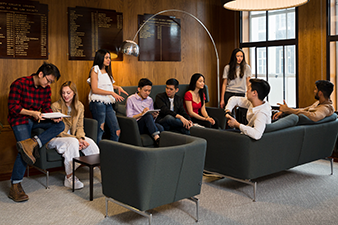 Photo of students at Cissy Chu Common Room