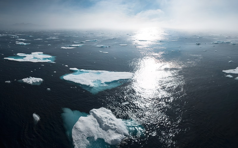 Picture of ice to show rising sea levels