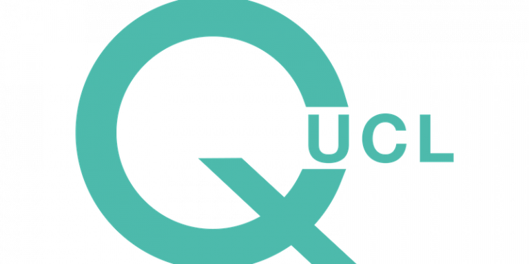 qUCL logo in blue
