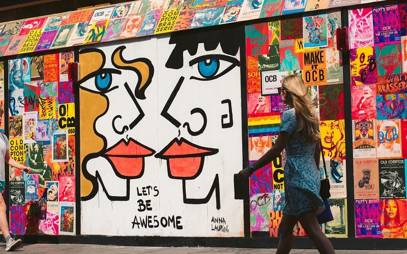 Graffiti in Old Compton St, photo by Mark Hayward, Unsplash