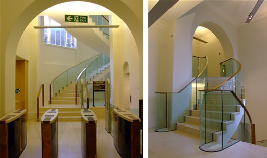 Image: UCL Main Library entrance and staircase