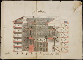 Section of the Panopticon or Inspection House (Bentham Papers 119a/122)
