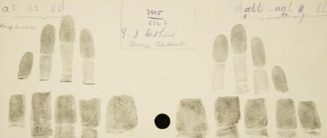 Fingerprint card, c1885