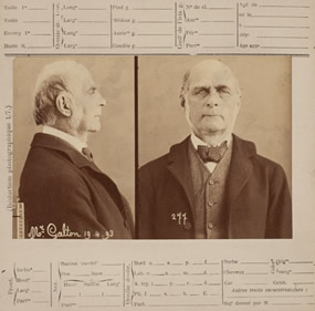 'Bertillon System Card' featuring Francis Galton, 19 April 1893