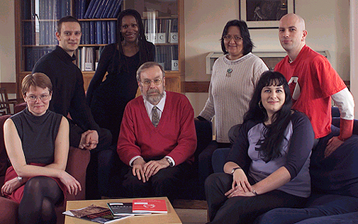 Picture of- From Left: Jes Cooban, Matthew Clear, Jean Munroe, Robert Kirby, Bernadette d'Almeida, Katie Meheux, Tony Lawless