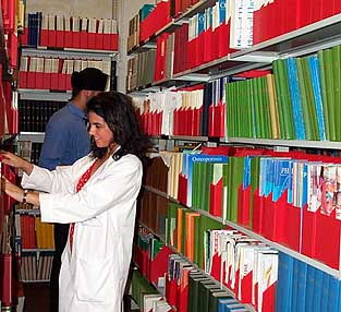 Photograph of readers in the Institute of Orthopaedics Library
