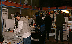 Photograph of the new photocopiers in use