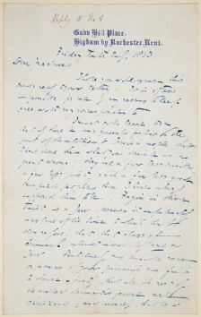 Image of Charles Dickens letter