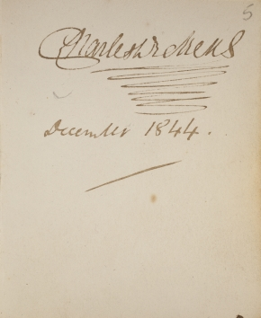 Dickens's signature, December 1844
