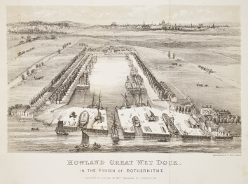 Howland Great Wet Dock, Rotherhithe