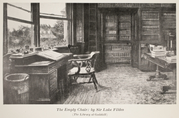 The Empty Chair : by Sir Luke Fildes (The Library at Gadshill)