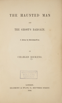 Title page of first edition, The Haunted Man and the Ghost's Bargain