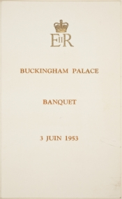 Coronation banquet, programme and menu