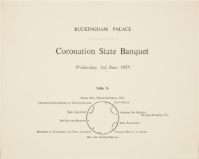 Coronation ceremony and banquet, instructions for guests