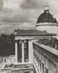 Damage to Wilkins' dome caused by the air raids of April 1941.