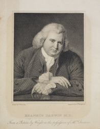 Portrait of Erasmus Darwin.