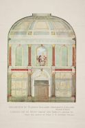 Colour design for the redecoration of the Flaxman Gallery in 1922.