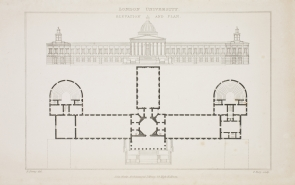 Elevation and Plan of Wilkins' design.