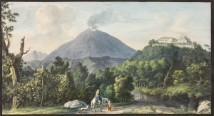 Campi Phlegraei. Plate XI:  View of the Monte S. Angelo and convent of Camaldolesi monks.