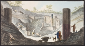 Campi Phlegraei. Plate XXXXI: Excavation of the Temple of Isis in Pompeii.