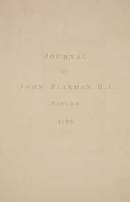 Flaxman's Naples Journal. Title page. [Not on display]