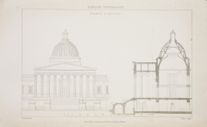 Wilkins' designs showing the interior spaces underneath the Dome