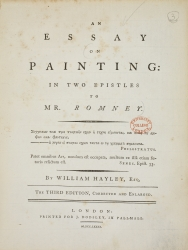 Title page from An essay on painting. (William Hayley).