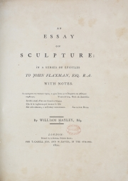 Title page from An essay on sculpture. (William Hayley). [Not on display]