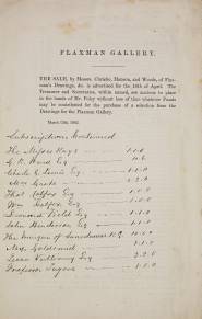 Flaxman Gallery Subscribers List, 1862. [Not on display]