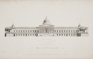 Wilkins' designs for the Portico and Dome [1826].