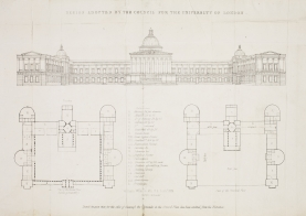 The central block plan of the College, 1826. [Not on display]