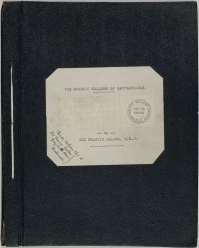 Cover of manuscript of Galton's unpublished novel Kantsaywhere
