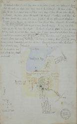 Journal, drawing and description of Walfisch Bay