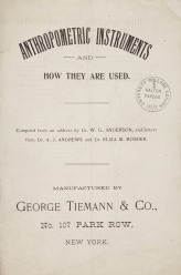 Pamphlet on anthropometric instruments
