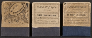 Three flip books of cinematographic sequences