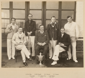 Winners, 1929 Inter-Hospital Lawn Tennis Cup