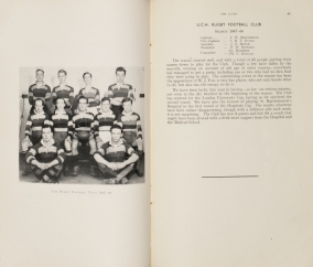 The UCHMS Rugby Football Team, 1947-48 *