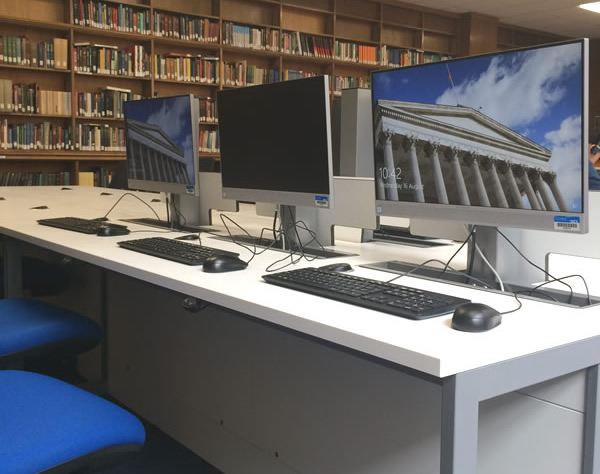 New study spaces with PCs