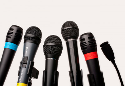 Image of microphones, decorative