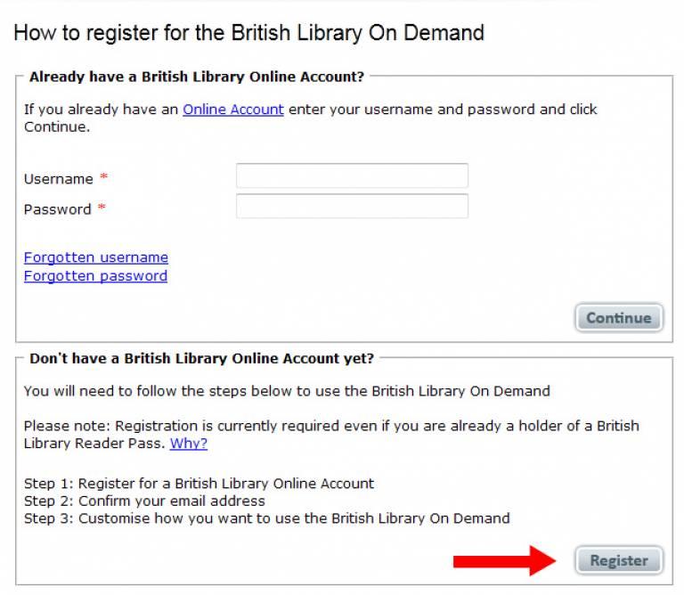 BL registration form