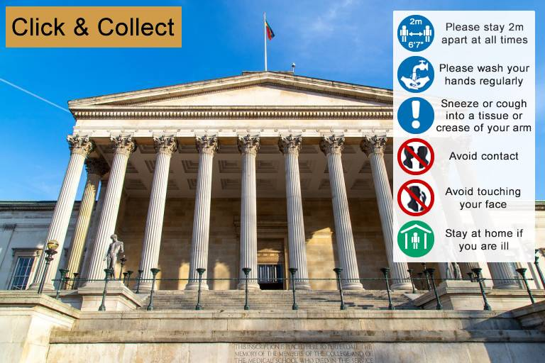 Infographic: Guidelines to the Click and Collect service. Full details in text below.