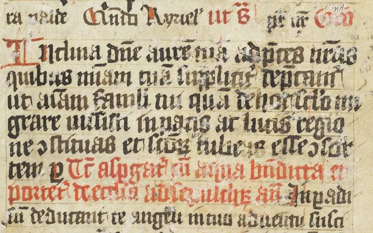 Fragment of a Mediaeval Manuscript showing an excerpt from the Miss Pro Defunctis, or Mass for the dead.