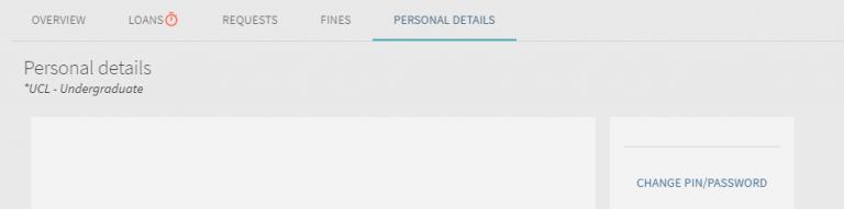 Explore personal details screenshot